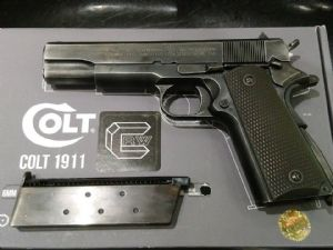 CRW custom AW 1911 with Steel Barrel and WWII Weathering